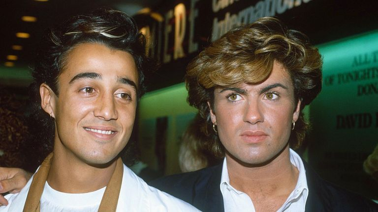 Wham pictured in September 1984, three months before Last Christmas was released