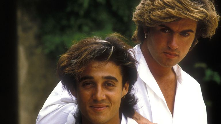 Wham pictured in France in 1984, a few months before Last Christmas was released