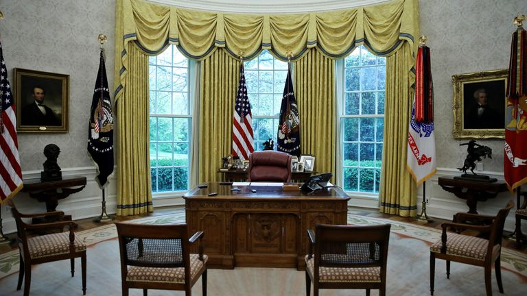 The Oval Office in the White House