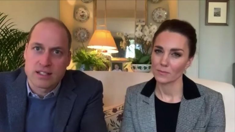 The Duke and Duchess of Cambridge spoke to counsellors and frontline workers about what mental health support is available