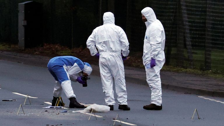Police forensic officers work outside the Wockhardt pharmaceutical plant in Wrexham, Britain January 27, 2021. REUTERS/Phil Noble