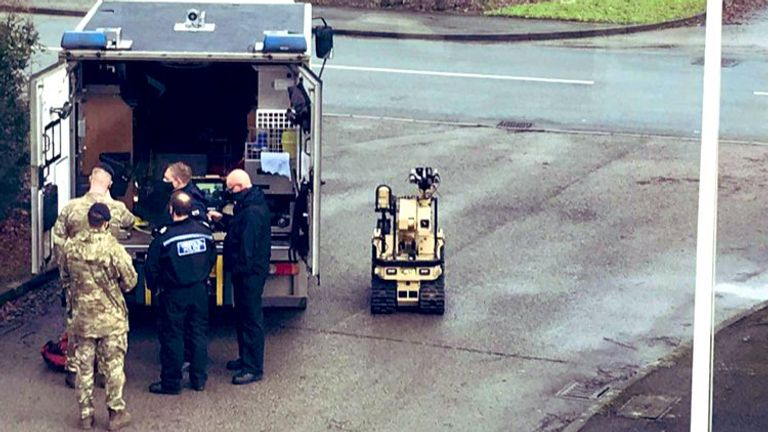 Bomb squad at the scene. Pic: Mark Evans