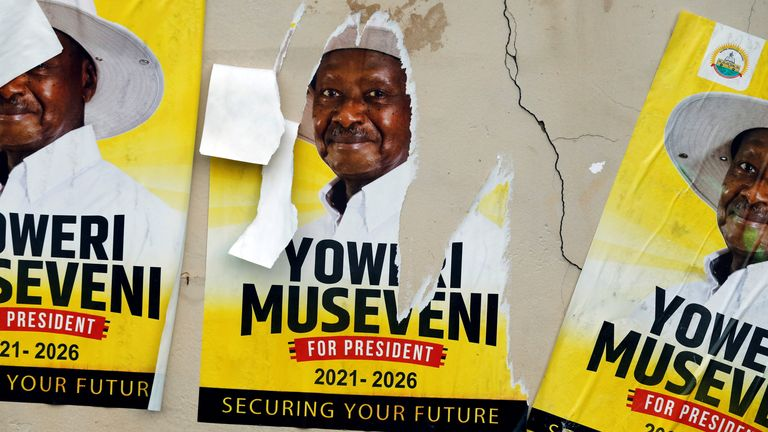 Mr Museveni says that he will accept the result - as long as there are no mistakes