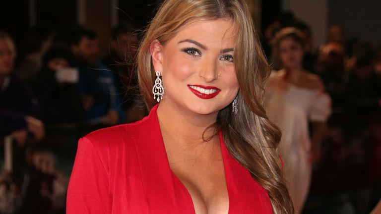 Model Zara Holland poses at the premiere of the film 'Pride and Prejudice and Zombies' in London, Monday, Feb. 1, 2016. Pic: AP
