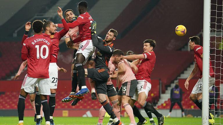 Ole Gunnar Solskjaer felt Billy Sharp fouled David de Gea as Kean Bryan scored for Sheffield United