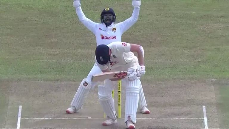 Dom Sibley given out LBW on second day of second Test in Sri Lanka