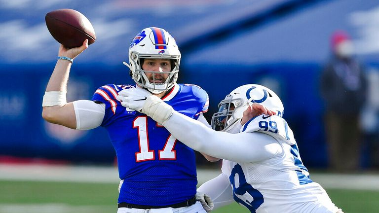 Highlights of the Indianapolis Colts against the Buffalo Bills in the NFL Playoffs