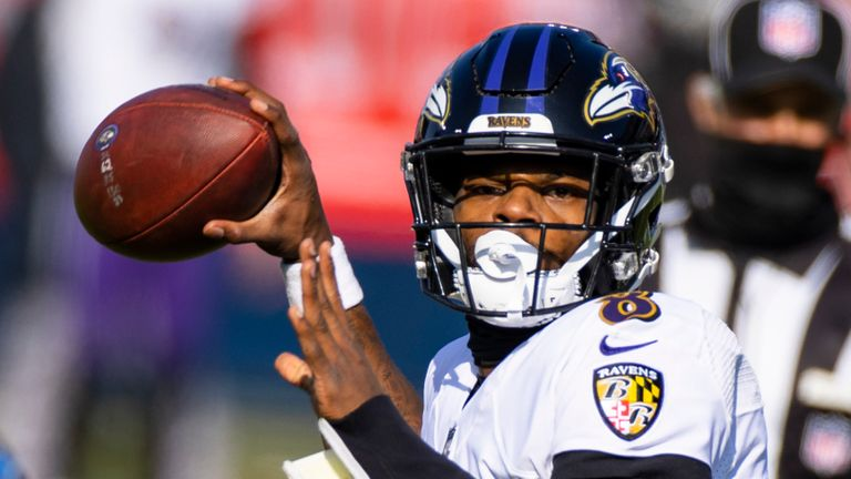 Baltimore Ravens quarterback Lamar Jackson. (AP Photo/Brett Carlsen)