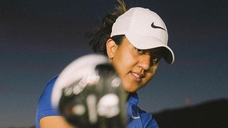 Female golfer Maya Reddy
