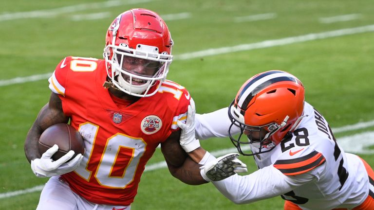 Highlights of the Cleveland Browns against the Kansas City Chiefs in the AFC Divisional Round.