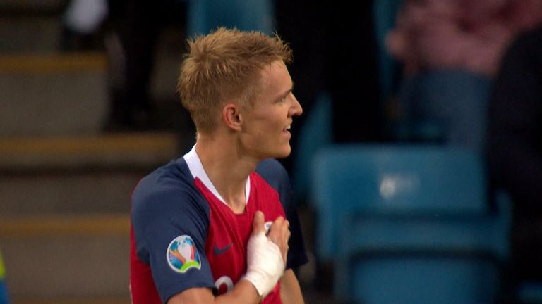 Ahead of Martin Odegaard's move to Arsenal we take a look back at one of his goals for Norway in their European Qualifiers match against Romania in 2019.