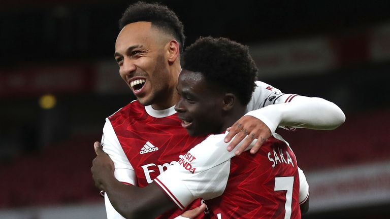 Pierre-Emerick Aubameyang and Bukayo Saka both scored in Arsenal's win against Newcastle