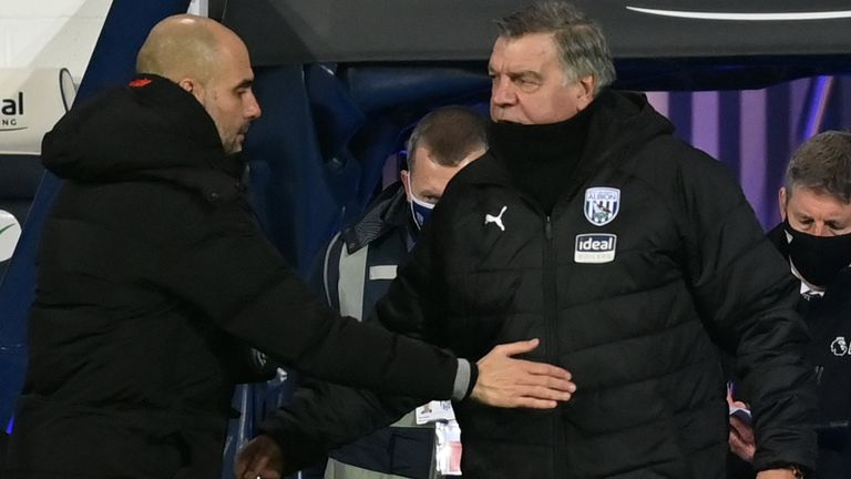 Pep Guardiola and Sam Allardyce