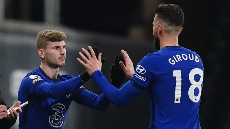 Timo Werner replaces Olivier Giroud in Chelsea's win over Fulham