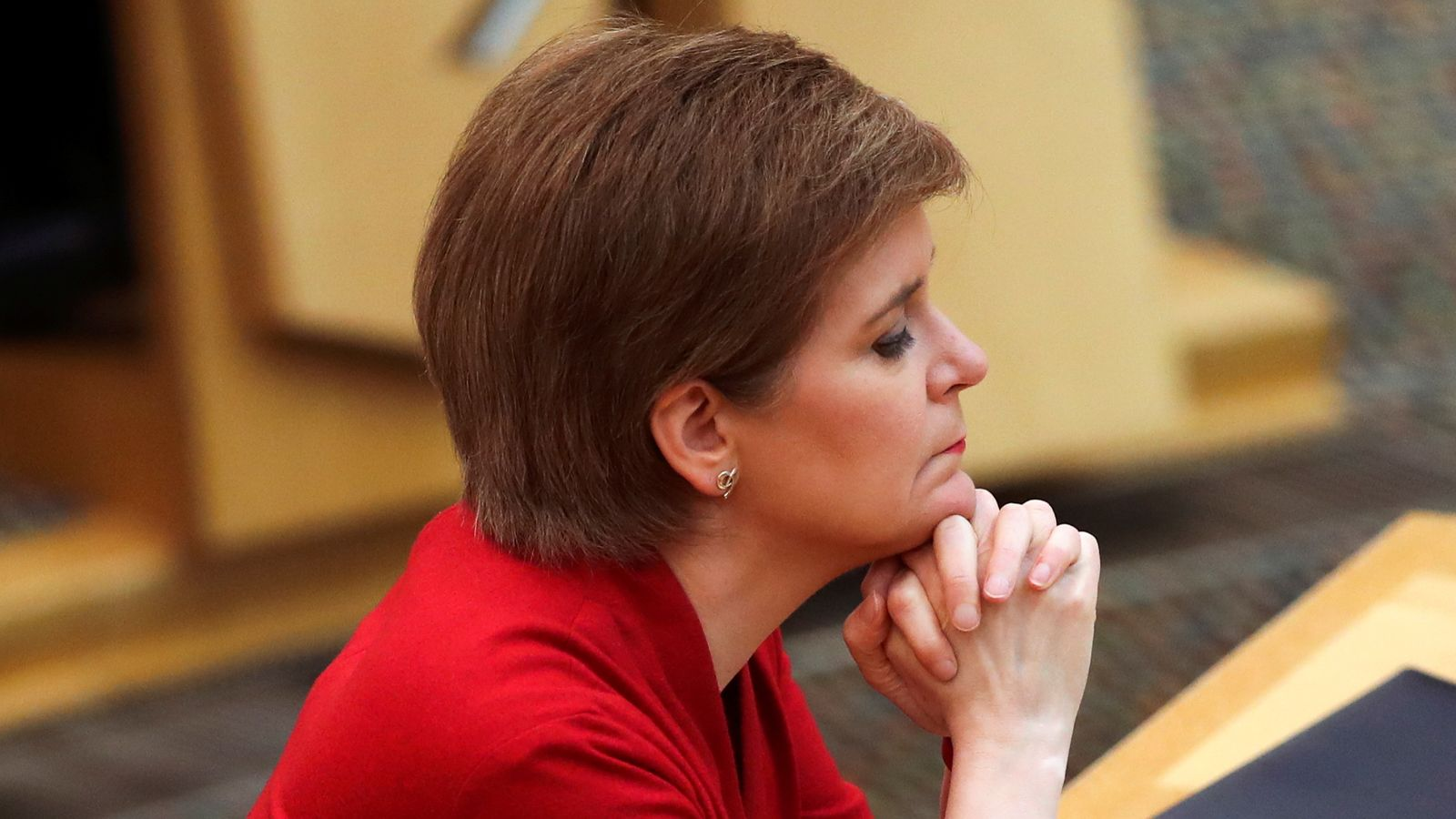 Sturgeon on course to remain first minister but SNP will fall short of Holyrood majority, poll for Sky News suggests