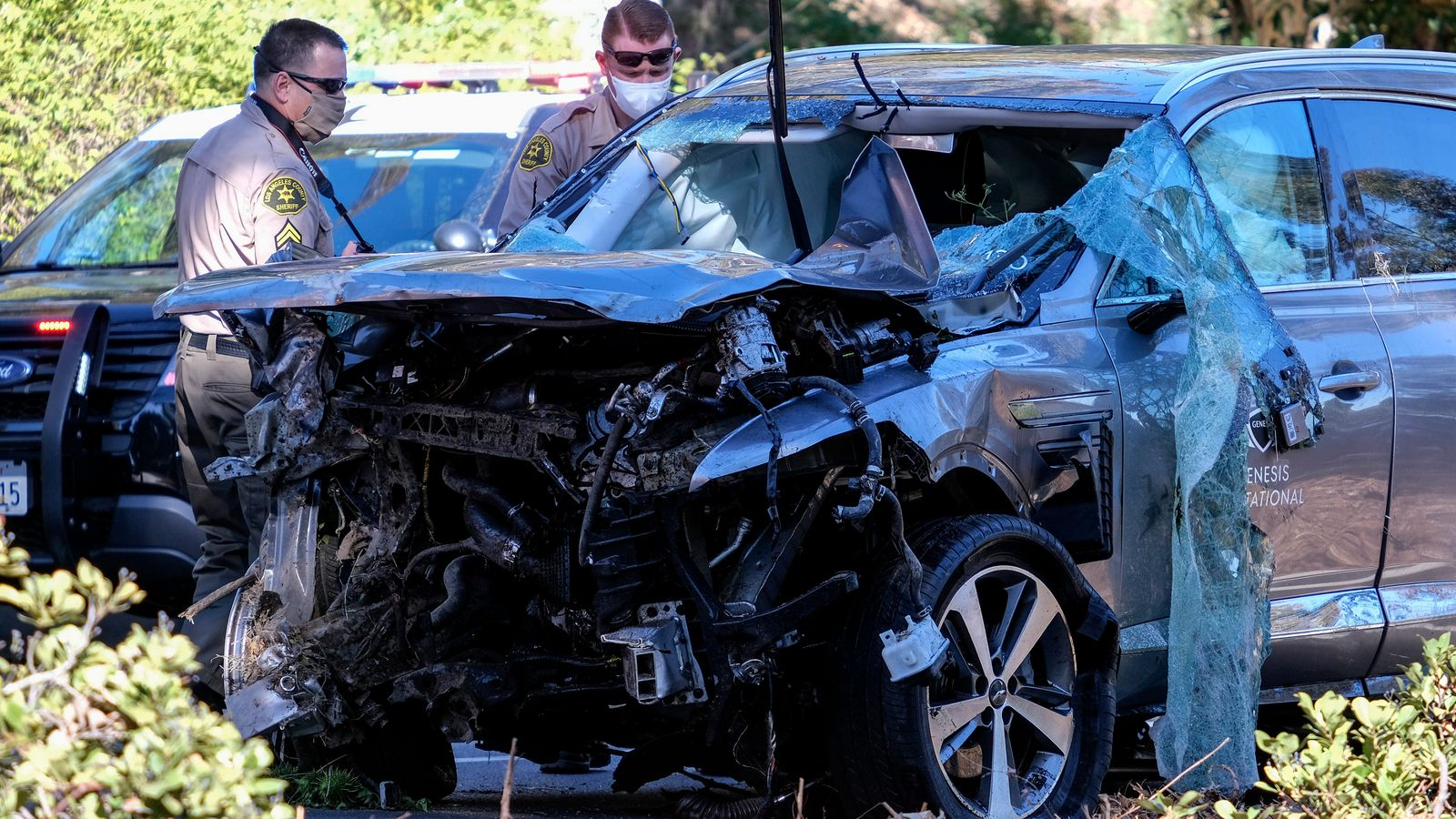 Tiger Woods: LA sheriff says automobile crash 'purely an accident' and golfer 'was not drunk'