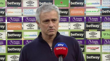Mourinho: I feel sad