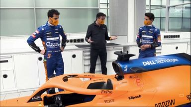 Ricciardo & Norris meet their new car