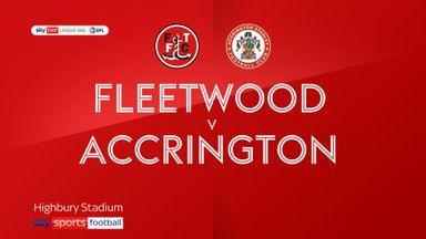 Fleetwood 1-1 Accrington Stanley