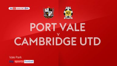 Port Vale 0-1 Cambridge Utd