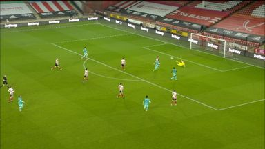 Ramsdale makes fantastic double save (10)