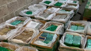 The National Crime Agency seized the blocks of cocaine found in banana boxes.