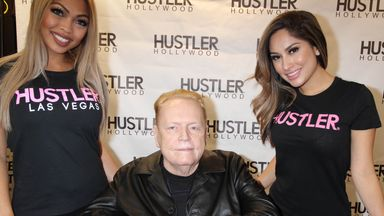 Photo by: Raoul Gatchalian/STAR MAX/IPx 12/10/16 Larry Flynt does a signing at the new Hustler Hollywood Store in Las Vegas, Nevada.