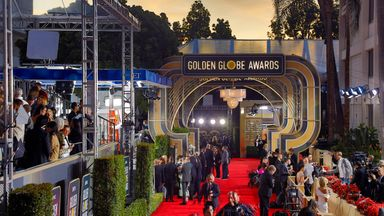 The Golden Globes set the tone for the highly prestigious BAFTAs and Oscars that follow. Pic: AP