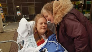 Jason Kelk pictured outside St James' Hospital in Leeds with his wife Sue. Pic: Sue Kelk