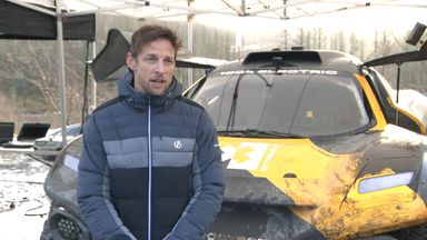 Formula 1 world champion Jenson Button has spent two days in the Welsh Valleys test driving a 100% electric SUV