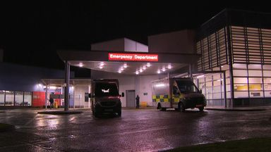 The lockdown at Crosshouse Hospital was later lifted