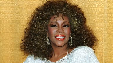 Singer Mary Wilson, former member of The Supremes, poses at the Soul Train Music Awards in Los Angeles in 1987. Pic: AP