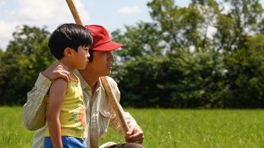 Steven Yeun (R) and Alan S Kim (L) play father and son. Pic: Minari/Melissa Lukenbaugh/A24