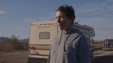 Frances McDormand in Nomadland. Pic: Searchlight Pictures