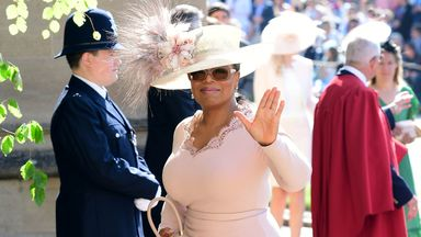 Oprah Winfrey at Harry and Meghan's wedding in May 2018