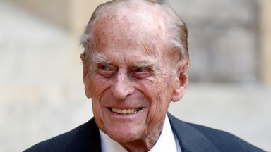 Prince Philip spends a sixth night in hospital. File pic