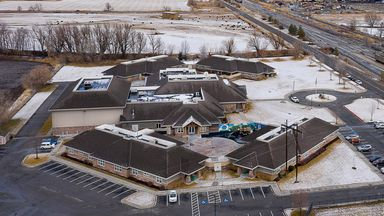 Aerial photo of Provo Canyon School's Springville Campus. Pic: Francisco Kjolseth/The Salt Lake Tribune via AP