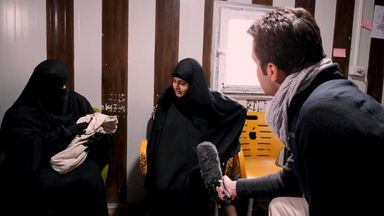 Shamima Begum spoke to Sky News in February, days after her third baby was born in February 2019