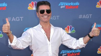 Simon Cowell at the America's Got Talent season 15 red carpet in March 2020. Pic: AP