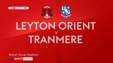 Leyton Orient 1-3 Tranmere