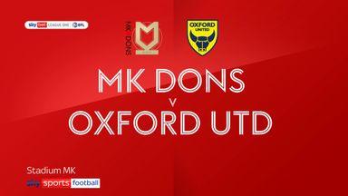 MK Dons 1-1 Oxford Utd