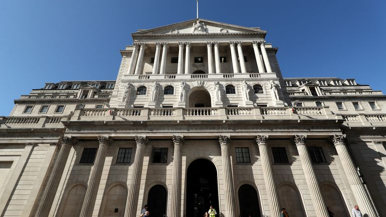 File photo dated 20/09/19 of the Bank of England, in the City of London, which has left interest rates unchanged at 0.1%. Issue date: Thursday February 4, 2021.
