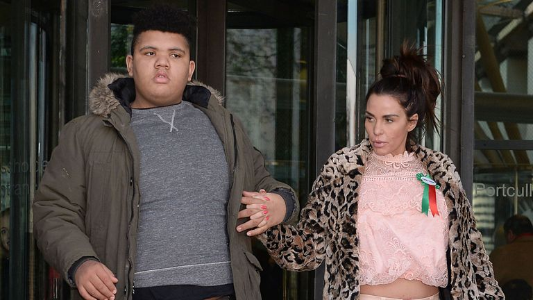 "Embargoed to 0900 Wednesday February 10 File photo dated 06/02/18 of Katie Price with her son Harvey. Harvey Price has said he hopes to be ""a voice for young people like me"" as he was announced as an ambassador for the charity Mencap. Issue date: Wednesday February 10, 2021."