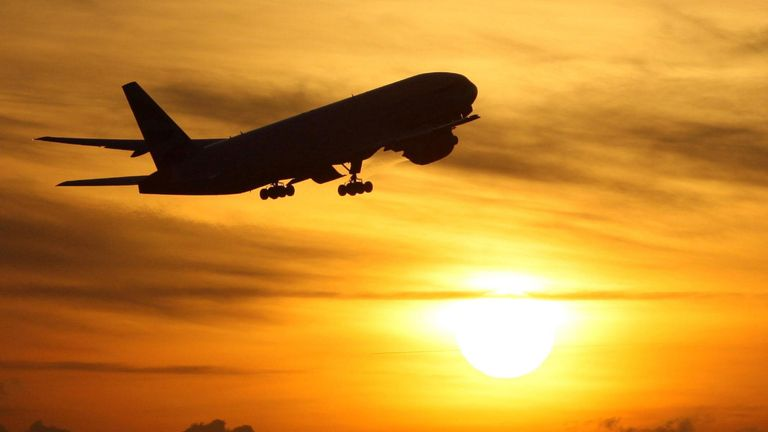 Embargoed to 0001 Tuesday November 3 File photo dated 19/11/08 of a plane taking off at sunset. Just over 1 billion is being withheld in partial or full refunds from package holiday customers who have asked for their money back, according to estimates from Which?