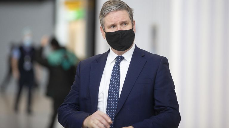 Labour leader Sir Keir Starmer during a visit to Terminal 2 at Heathrow Airport, London, to see the COVID-19 response. Picture date: Thursday February 11, 2020. See PA story POLITICS Labour.