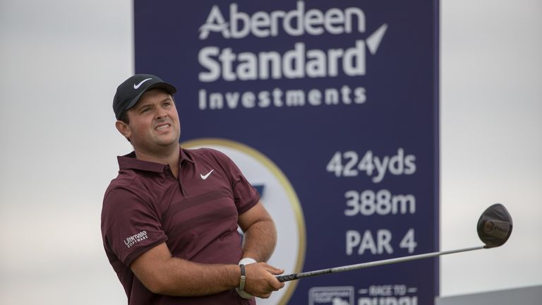 Patrick reed tees off at the 15th hole during day one of the Aberdeen Asset Management Scottish Open at Gullane Golf Club, East Lothian 12/7/2018