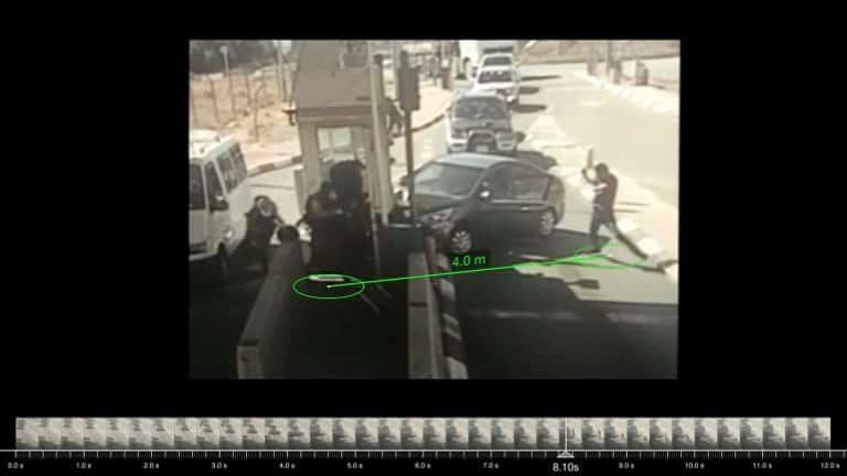 Ahmad Erekat's distance to nearest Israeli officer. Source: Twitter Israeli Police, 23 June 2020. (Forensic Architecture, 2021)