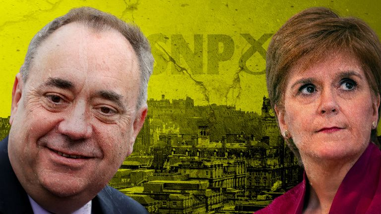 "Alex Salmond says the SNP, led by Nicola Sturgeon, was involved in a ""malicious and concerted attempt"" to damage his reputation"
