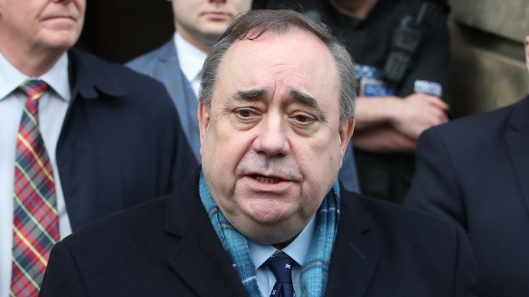 Ex-leader of the SNP Alex Salmond
