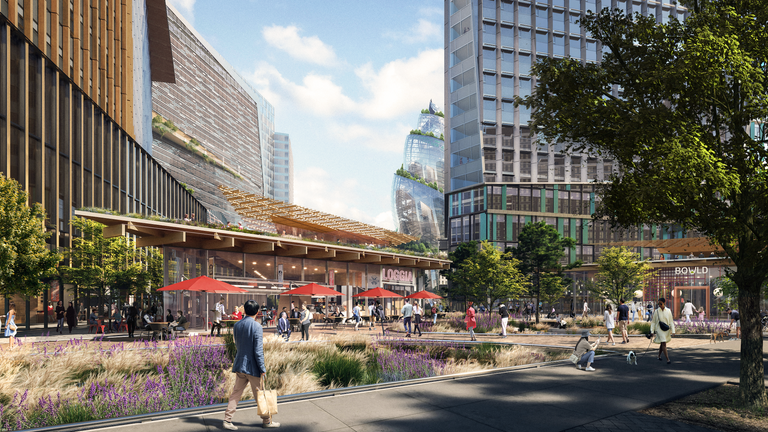The site is designed to inspire people to stay after the workday ends. Pic: NBBJ